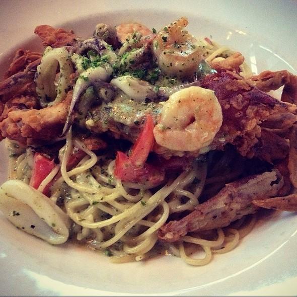 Soft Shell Crab Over Seafood Pasta - La Griglia - Houston, Houston, TX