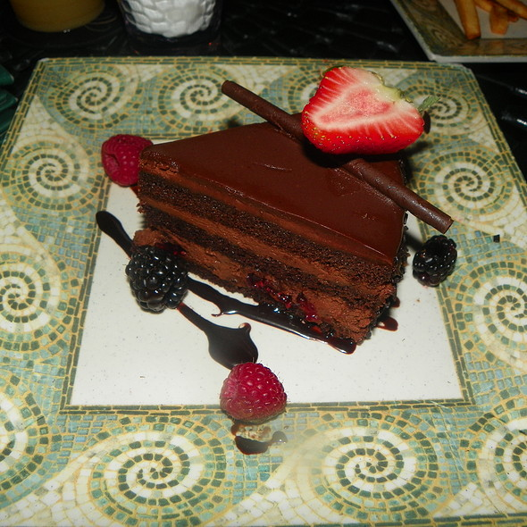 Chocolate Raspberry Mousse Cake @ Cascade at the Biltmore Hotel Miami