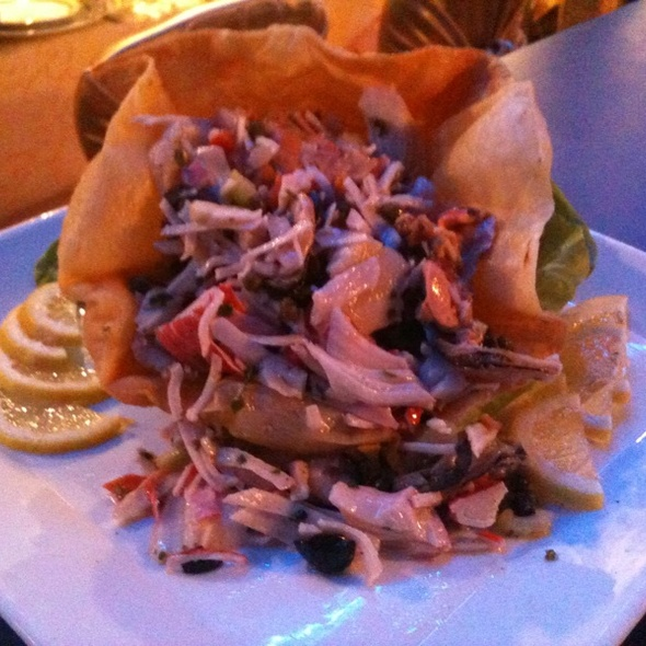 Seafood Ceviche In A Baked Shell  @ The Diamond Club