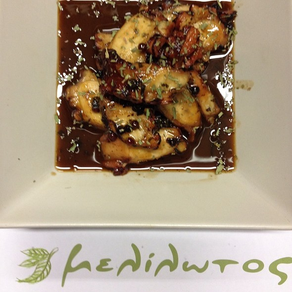 Octopus In Mastika Chios Sauce @ Melilotos