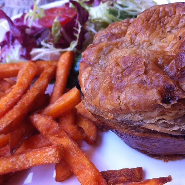 Man's Pot Pie With Sweet Potato Fries @ Heirloom Eatery & More