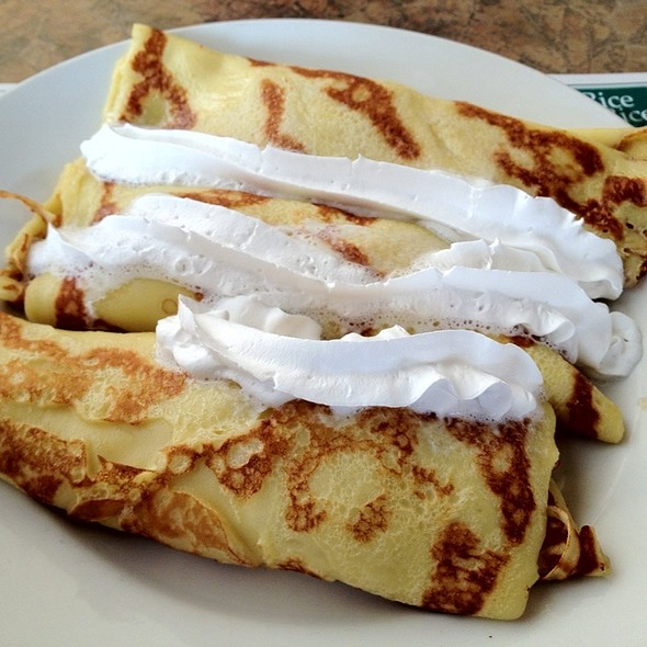 French Style Crepes With Cooked Apples @ Round the Clock Restaurant