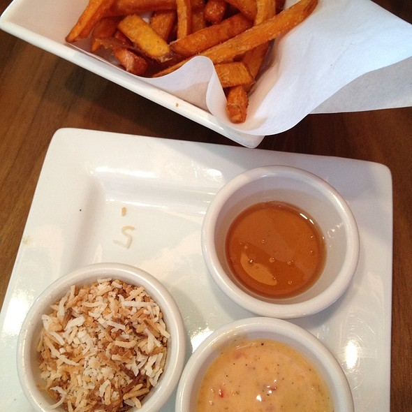 Sweet Potato Fries With Honey And Coconut - Venti's Cafe & Taphouse, Salem, OR