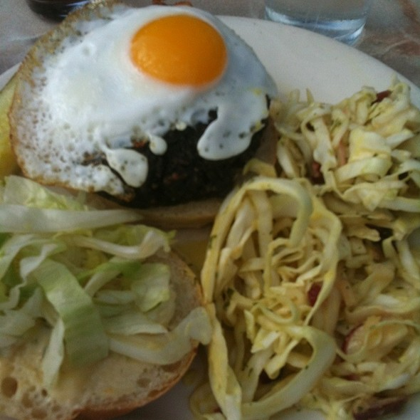 Fun Guy Veggie Burger @ Against the Grain Brewery and Smokehouse