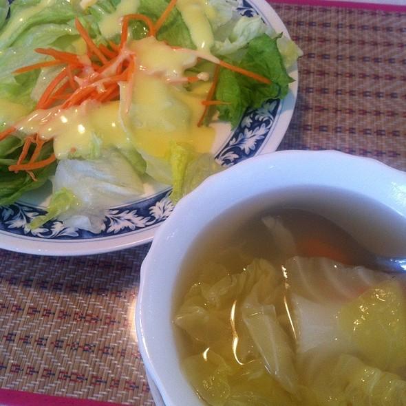 Vegetarian Soup And Summer Salad @ Thai Satay