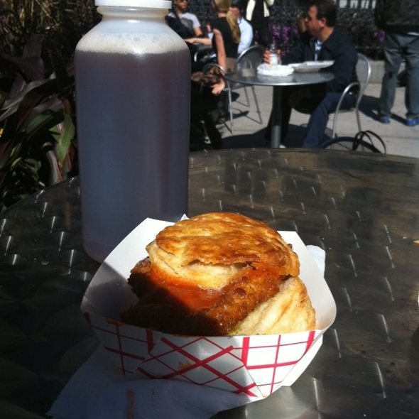 Fried Chicken and Biscuit @ Pies 'n' Thighs at Madison Square Market