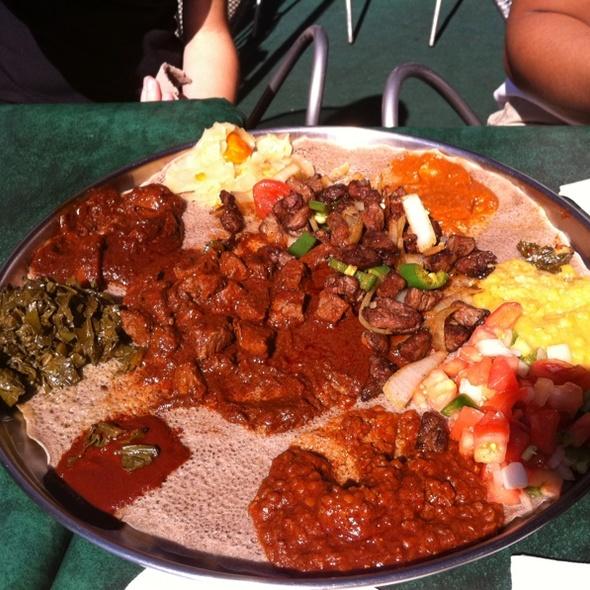 Ethopian Food, Lamb Wot/ Beef Tips @ Dukem Ethiopian Restaurant