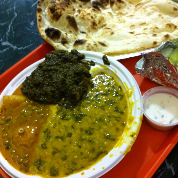 Vegetarian Platter With Naan