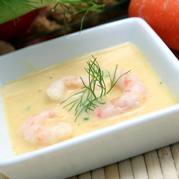 Prawn with fennel, vanilla and verbena @ Gourmet Recipe