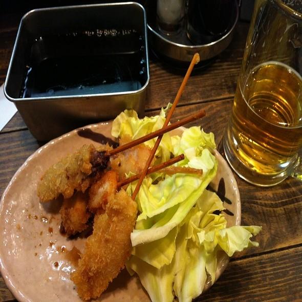 串カツとビール @ Yamahachi (ヤマハチ商店)