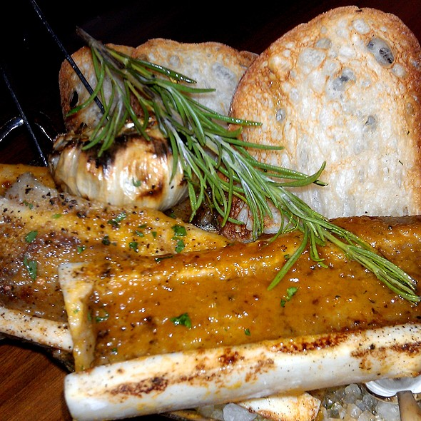 Oven Roasted Bone Marrow @ Blue Duck Tavern