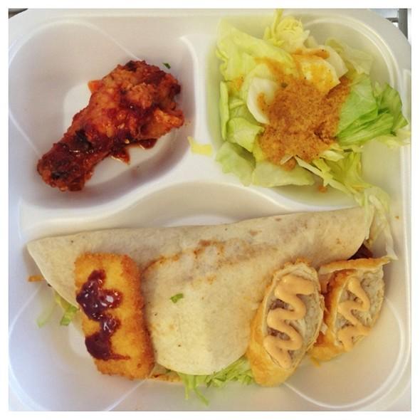 Spicy Pork Taco Box @ Korean BBQ Taco Box