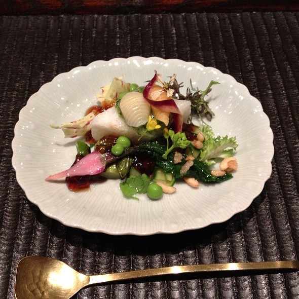 Nagaimo Hishimochi With Spring Vegetables And Sweet Soy Gelee @ Kajitsu