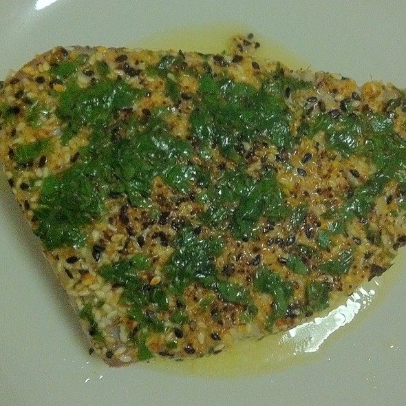 Seared Ginger-Sesame Tuna W/ Lime-Cilantro Butter @ Steve's Grill