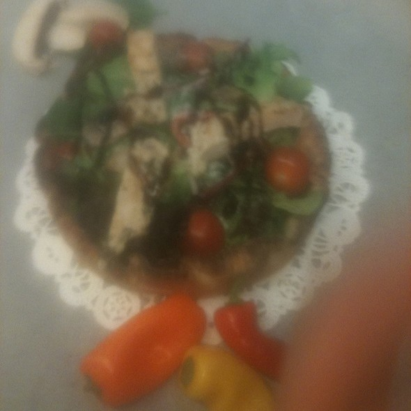 Grilled Chicken Salad Pizza @ Annie's Vintage Gourmet Market