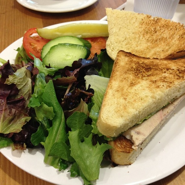 Patachou Roasted Turkey Sandwich With Field Green Salad & Balsamic Vinegrette @ Cafe Patachou