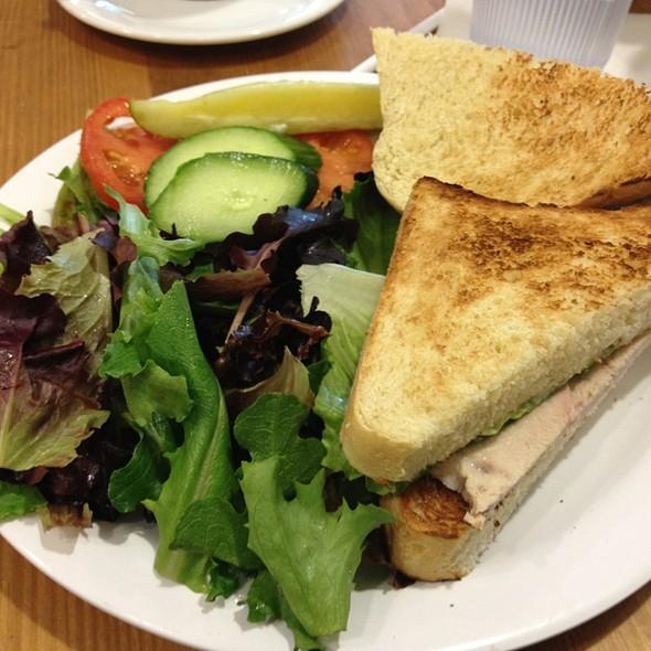 Patachou Roasted Turkey Sandwich With Field Green Salad & Balsamic Vinegrette @ Cafe Patachou