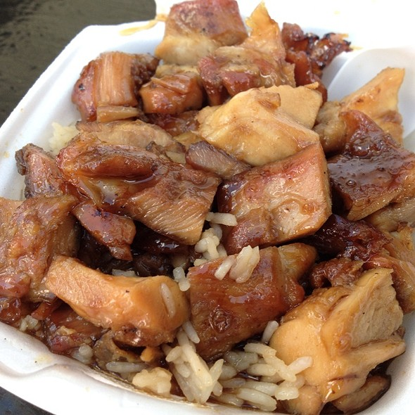 Bourbon Chicken With Rice @ Macon Cherry Blossom Festival