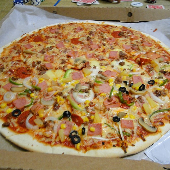 Pizza Dos (Fracasso Special and Meat Lovers) @ Fracasso Pizza, Pasta n' More