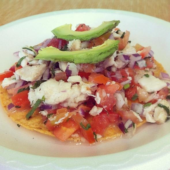 Fish Ceviche Tostada  @ Tacos Baja Ensenada