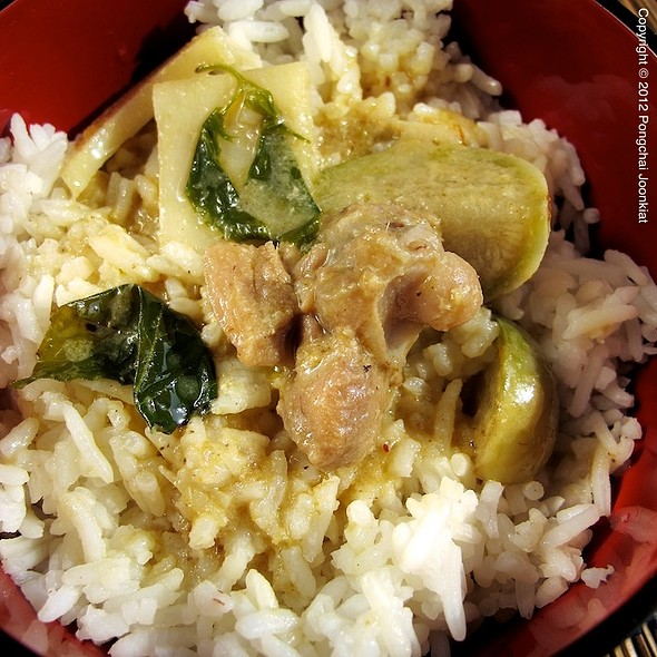 Thai Green Curry With Chicken Over Rice