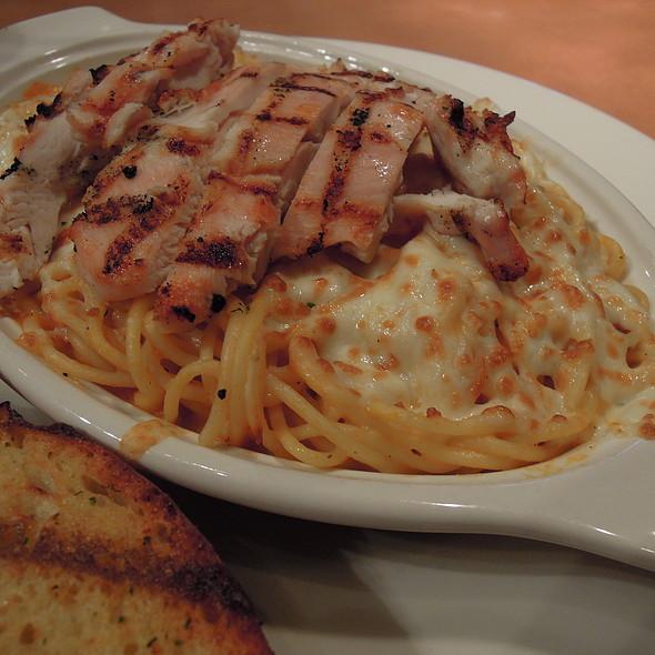 Teriyaki Chicken Breast Creamy Tomato Spaghetti @ Boston Pizza Ackroyd