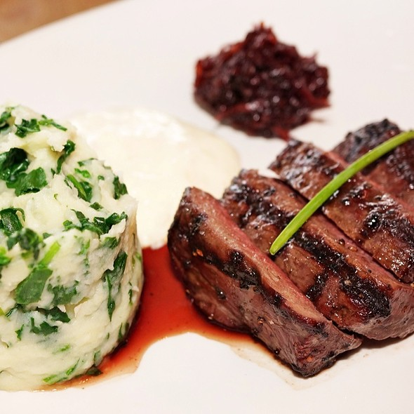 Loin Of Venison With Beetroot Relish, Baby Spinach, Potato Mash @ The Meat & Wine Co. Darling Harbour