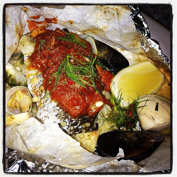 Fish Baked In A Bag @ Jamie's Italian