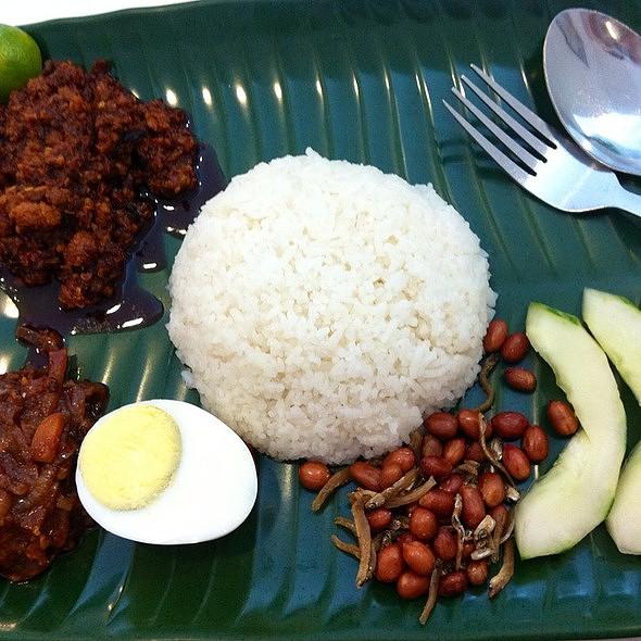 Dried Shrimp with Pork Sambal Nasi Lemak