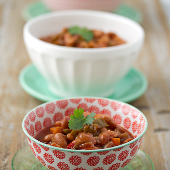 Vegetarian Slow-Cooker Chili @ The Joy Kitchen
