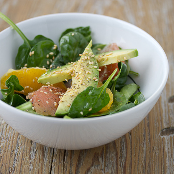 Spinach Salad with Grapefruit, Orange, and Avocado @ The Joy Kitchen