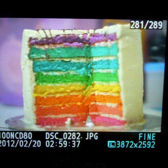 Rainbow cake @ rainbow cake