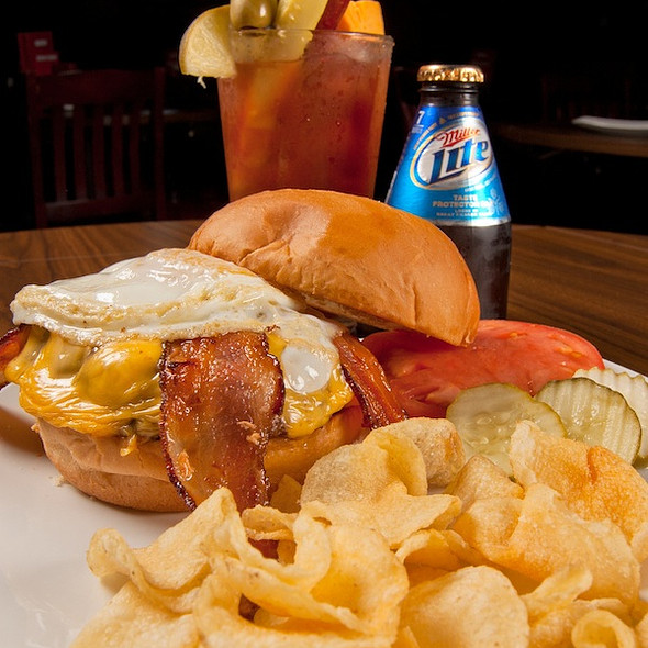 Hangover Burger @ Jerseys Bar And Grill