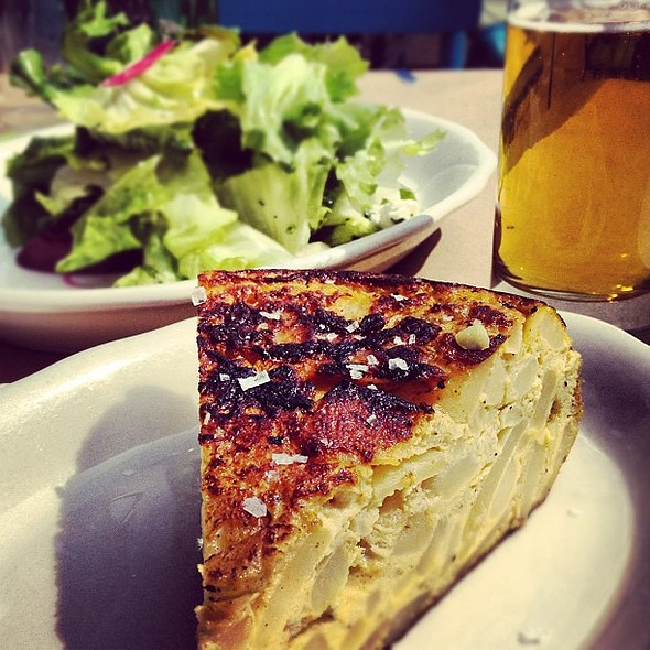 spanish tortilla, beet salad, sorachi ace @ Marlow & Sons