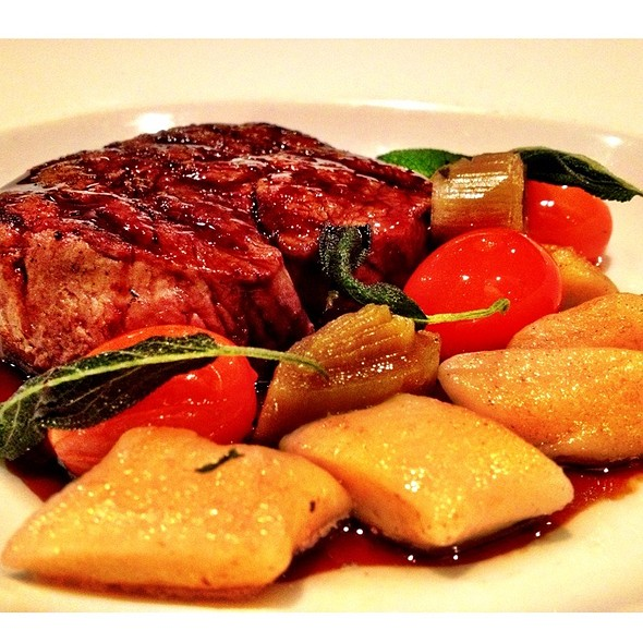 Hereford Prime Beef Fillet, Olive And Sage Gnocchi, Confit Tomatoes, Red Wine Jus @ Sugaroom
