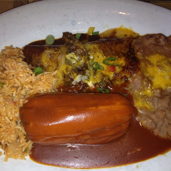 Shredded Beef Taco and Pork Tamale Combo - El Cholo Cafe, Pasadena, CA