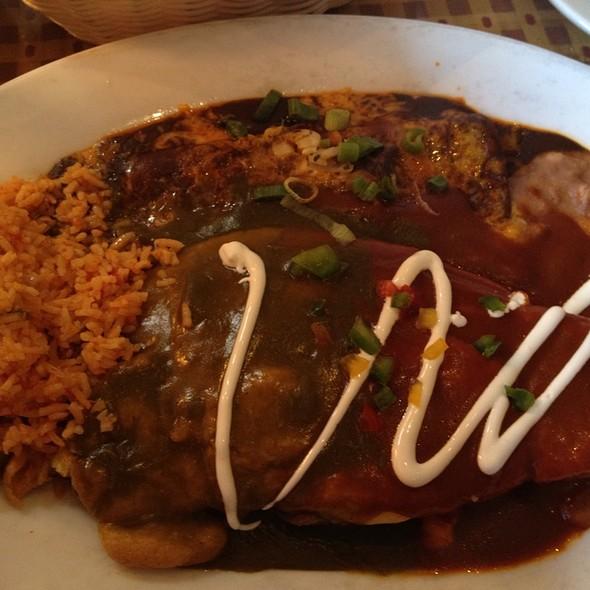 Cheese Enchilada And Chili Relleno - El Cholo Cafe, Pasadena, CA