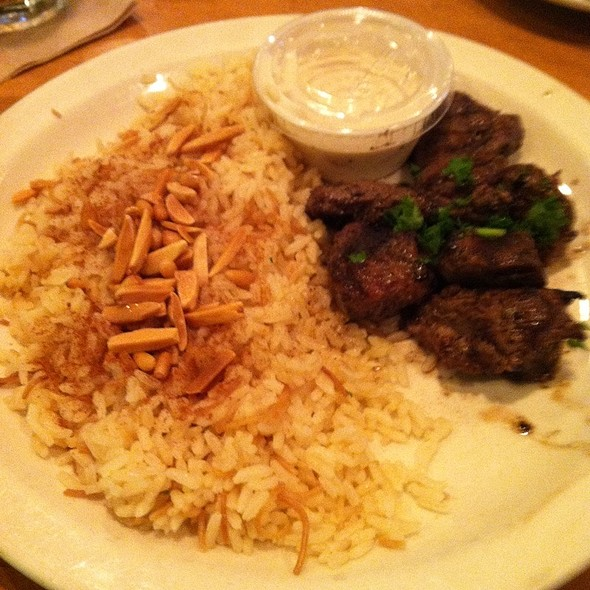 Mediterranean Lamb Plate @ Aladdin's Eatery