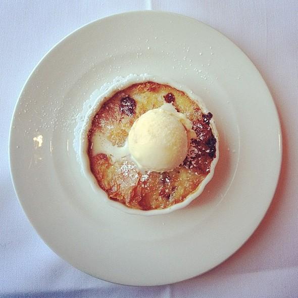 Warm Chocolate Croissant Bread Pudding @ Chaya Brasserie