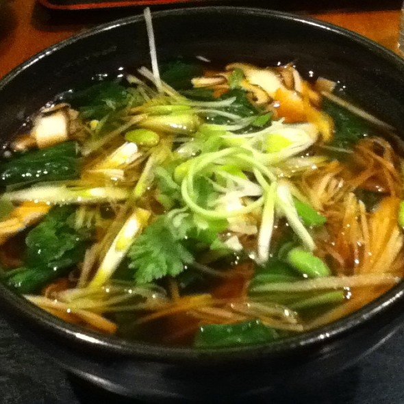 Vegetable & Mushroom Noodles 鲜菇蔬菜面 @ Sobaya 蕎麦屋