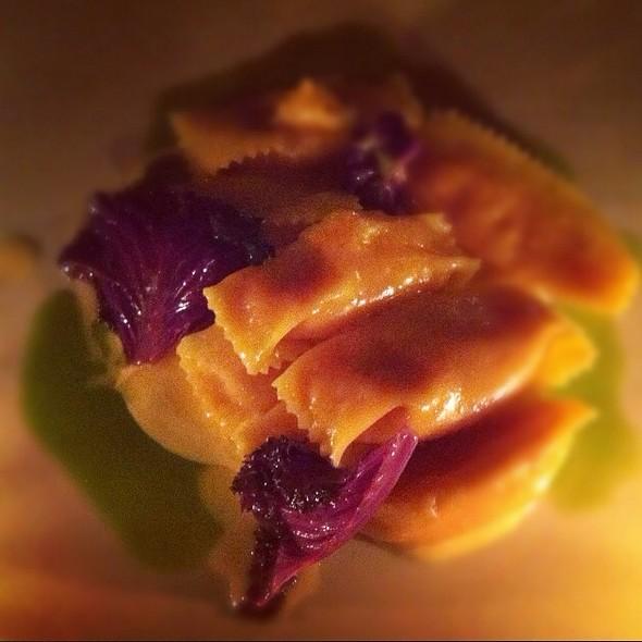 Roasted Sweet Potato Agnolotti With Smoked Scarmoza And Parsley