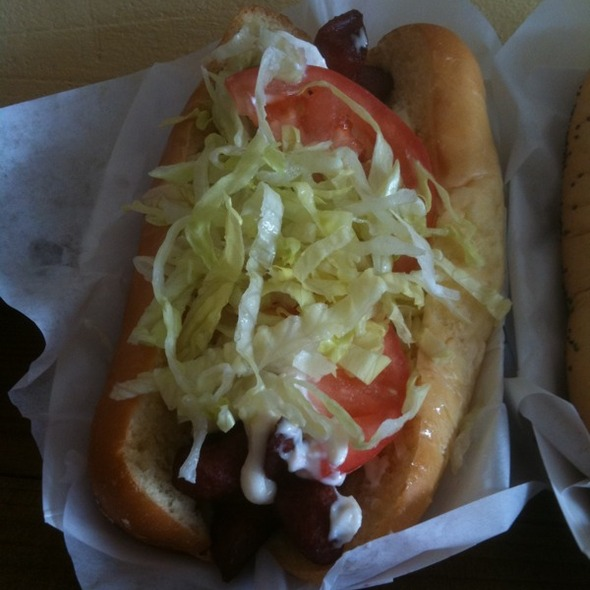 """Fat Boy"" Hot Dog @ Hank's Haute Dogs"