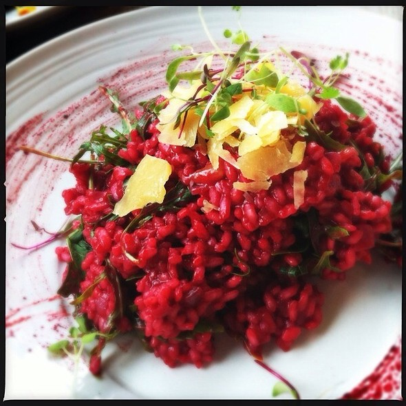 Beetroot Risotto With Rocket And Pecorino @ Claret House