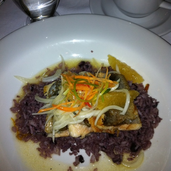 Trout With Black Olive Rice @ Inkaterra Machu Picchu