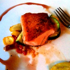 Unilaterally Seared Salmon
