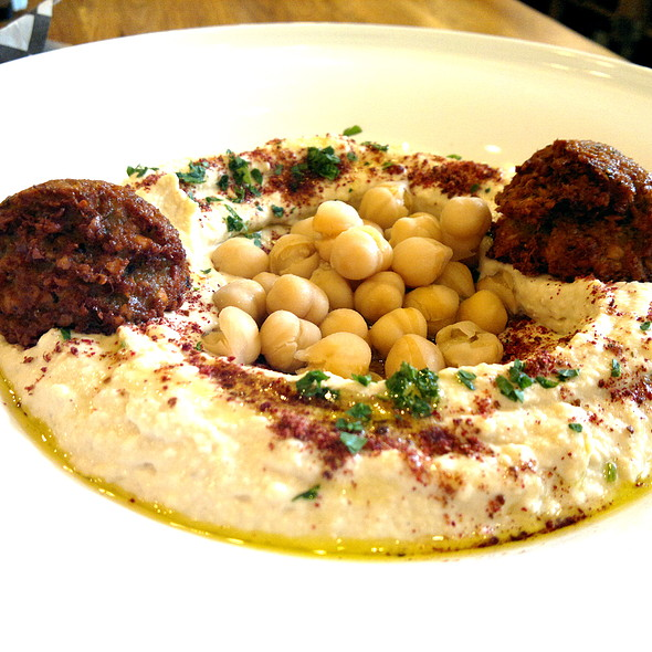 Hummus & Falafel Platter @ Zaatar Mediterranean Hummus Bar