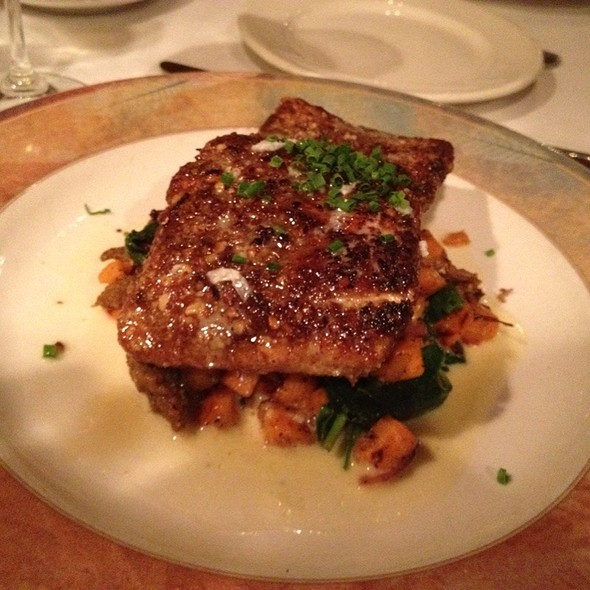 Pecan Crusted Salmon - Bacchus Wine Bar & Restaurant, Buffalo, NY