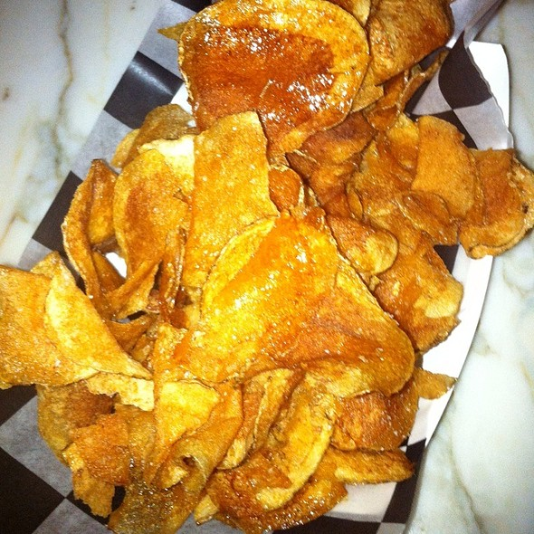 housemade potato chips with truffle salt - Jackie's Restaurant, Silver Spring, MD