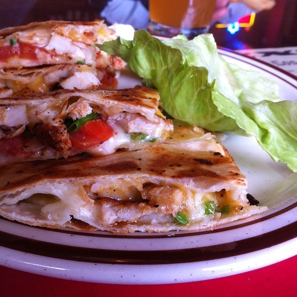 Chicken Quesadilla Grande @ The Grill