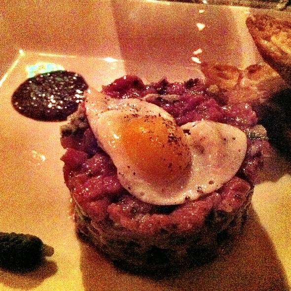 Steak Tartare With Quail Egg @ District Wine Bar SF